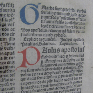 Bible Page (Real from 1470s) - Story of Scripture