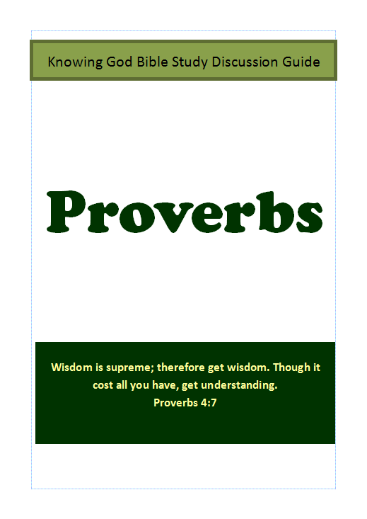 Proverbs - Free Bible Study Guide