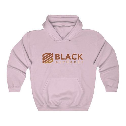 Black Alphabet Hooded Sweatshirt