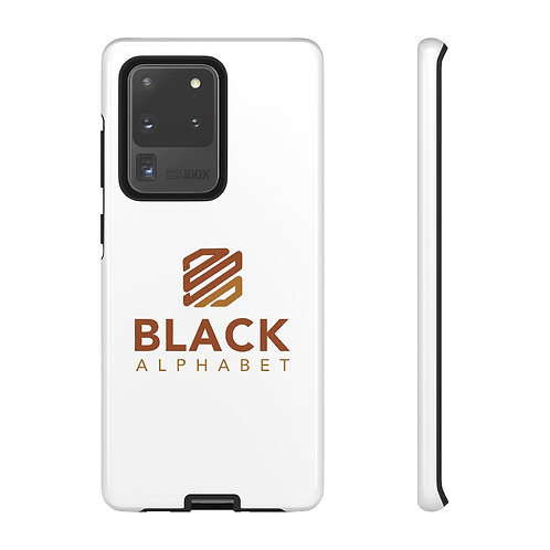 Black Alphabet Phone Case