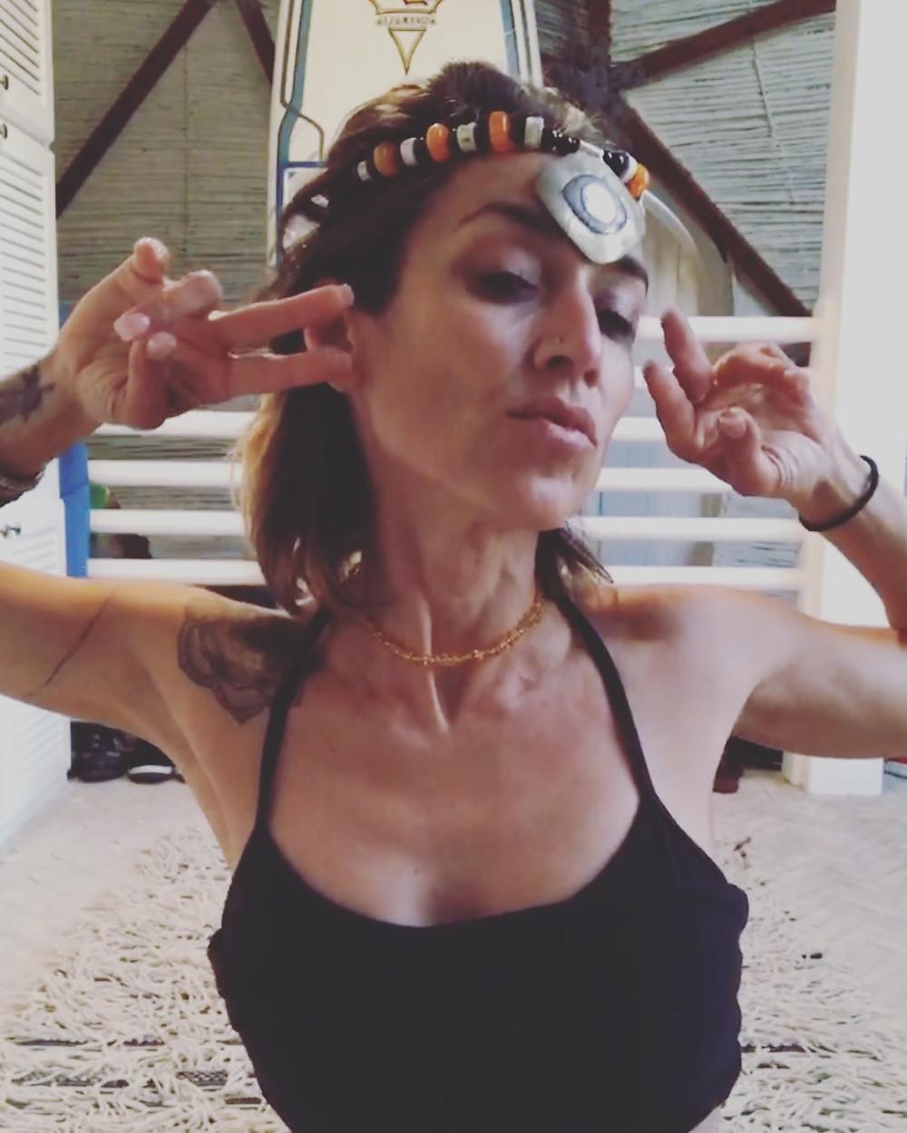 Kundalini worrior tribal fusion dancer