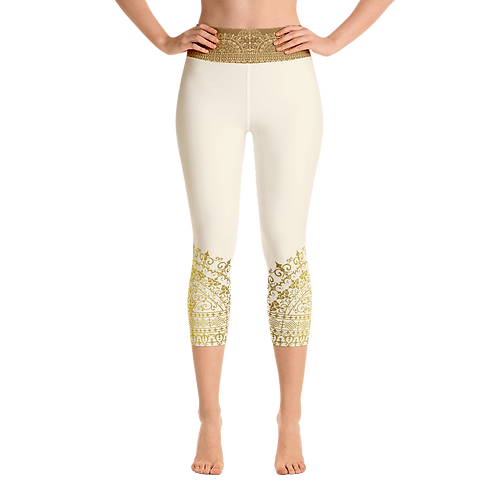 Divya High Waist Womens Yoga Capri Leggings