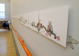 Catalina Schliebener: GrowingSideways exhibition, 2016, BGSQD - NYC