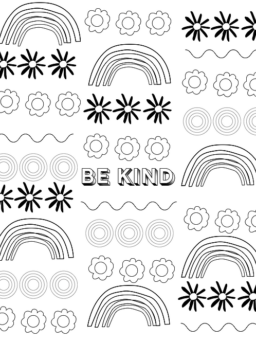 Be Kind Allover XL DIY Art Sheet
