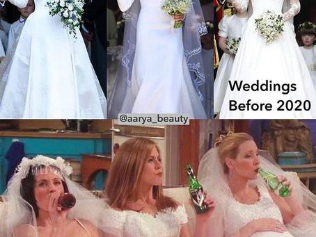 Las bodas en tiempos de coronavirus...