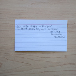 Anonymous Notecard 28