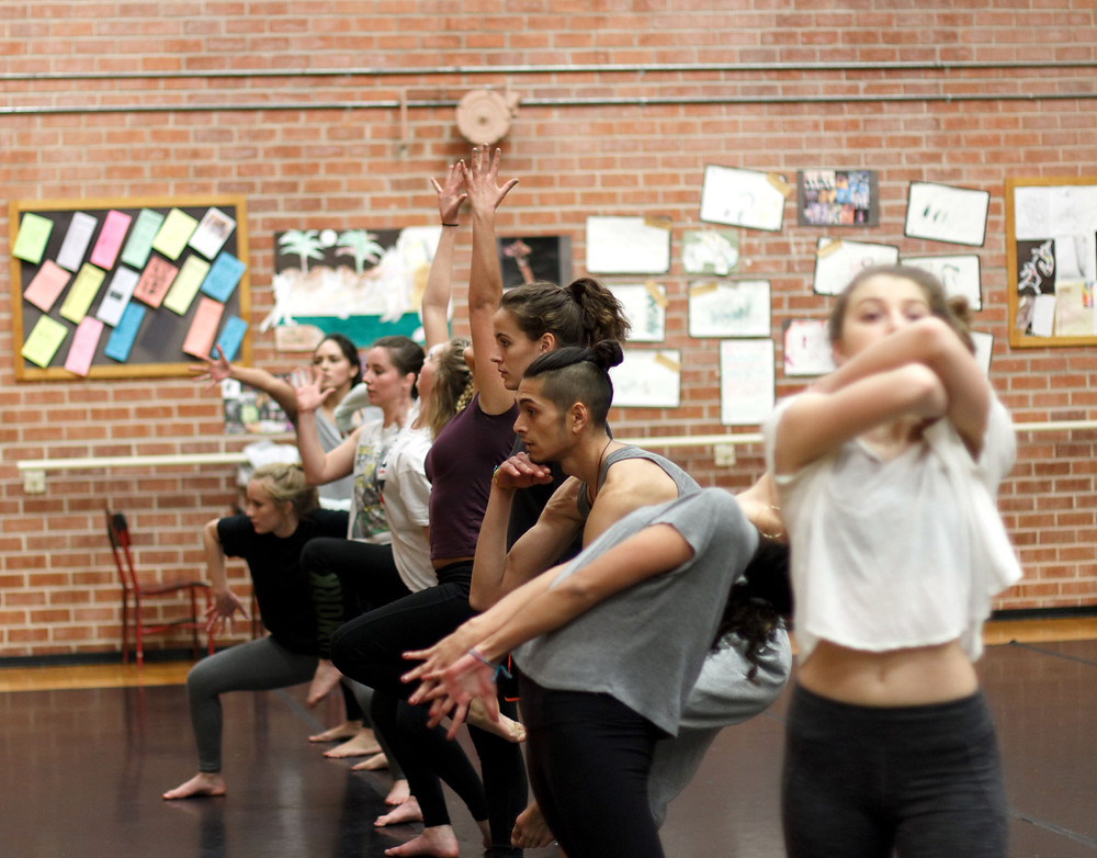"Esperanza Dance Project member's rehearsing for ""House of Hope"". Photography by Sergio Salguero"