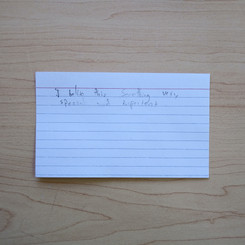 Anonymous Notecard 30