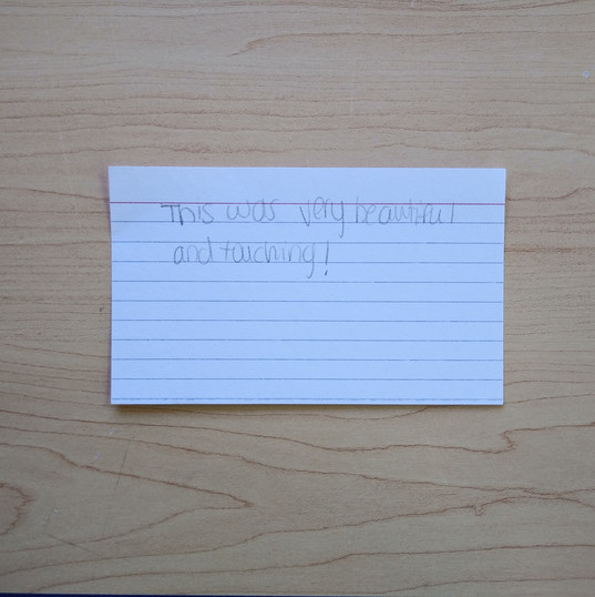 Anonymous Notecard 29