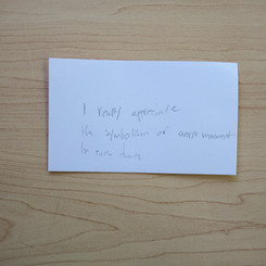 Anonymous Notecard 19