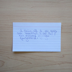 Anonymous Notecard 32