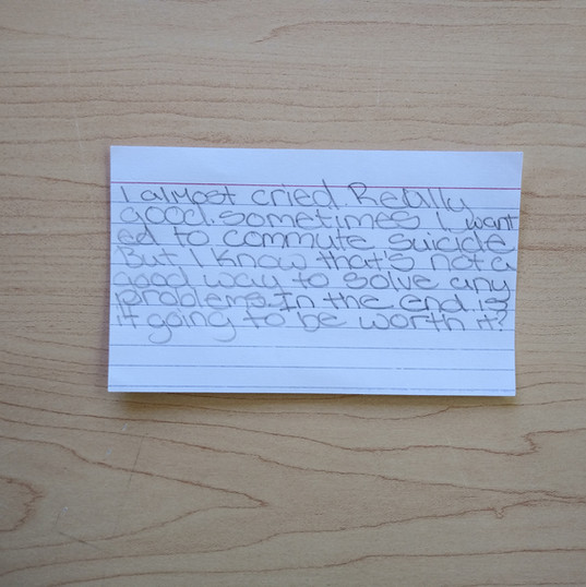 Anonymous Notecard 7