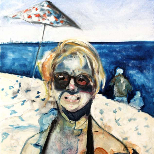Self as Hillary at Sandy Hook