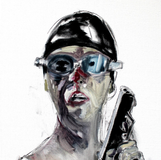 Self as Eleanor with Cap and Goggles