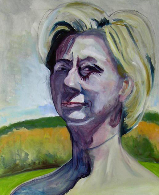 Self as Hilllary in a Field