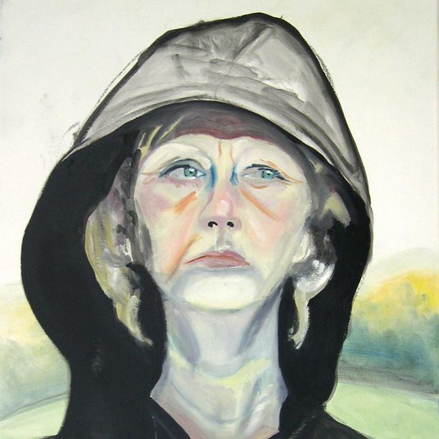 Self as Hillary in the Rain