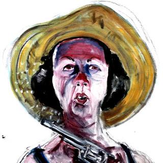 Self as Lady Bird with Straw Hat