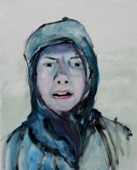 Greta in the Wind and Rain