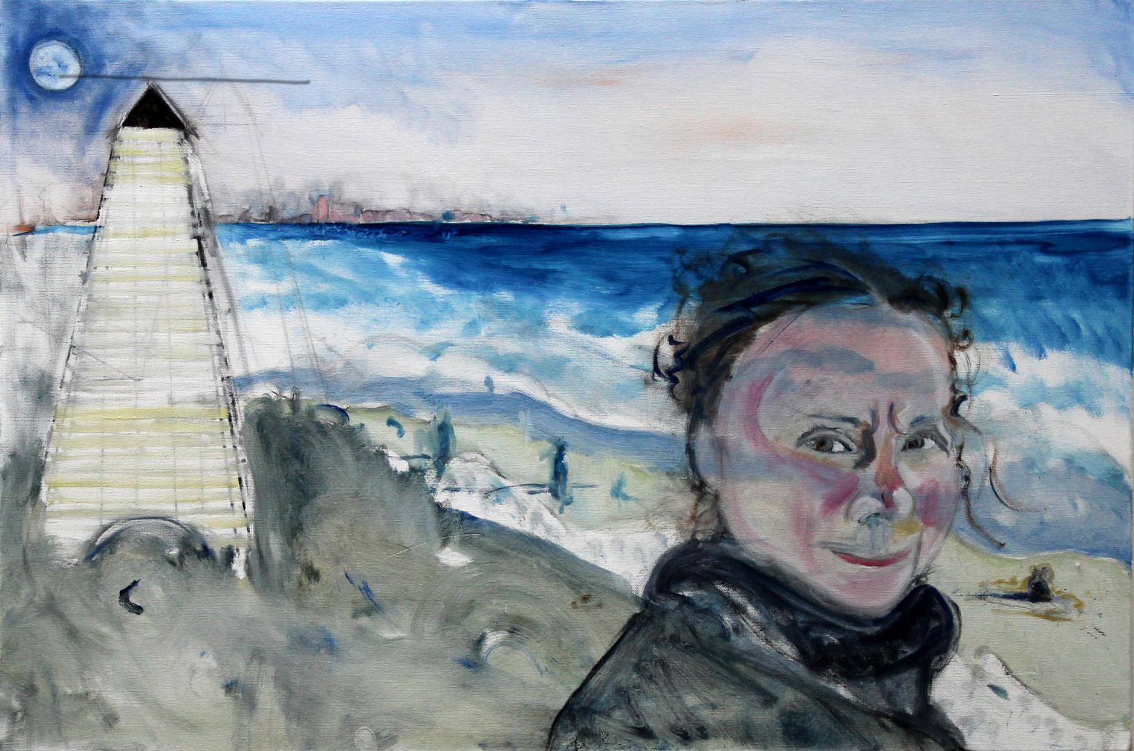 Self as Greta at Seaside