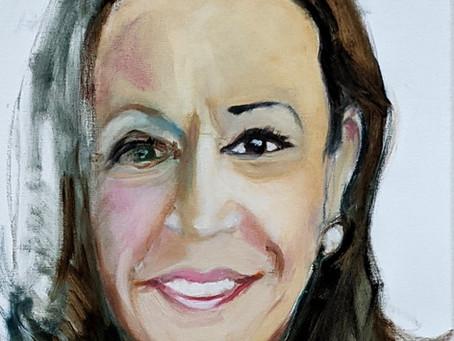 VEEP Self-portrait-as-Kamala Harris