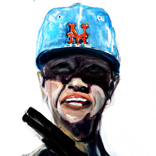 Self as Michelle with Mets Cap