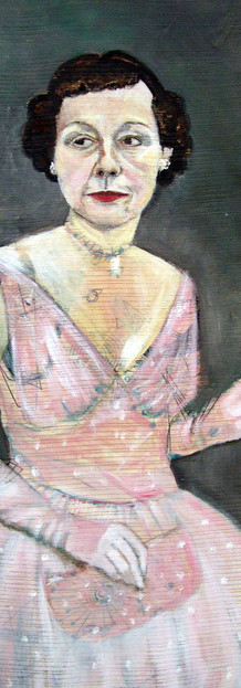 Self-portrait as Mamie Eisenhower