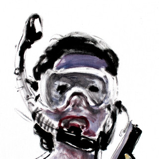 Self as Jackie with Snorkel and Mask