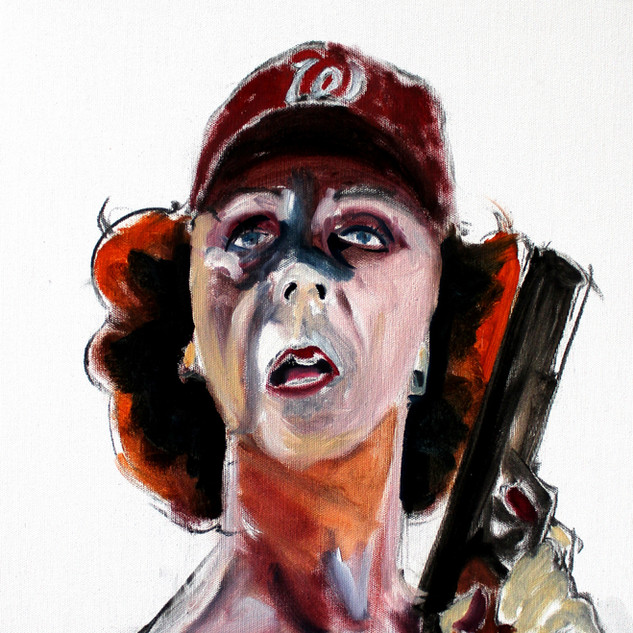 Self as Betty with Nats Cap