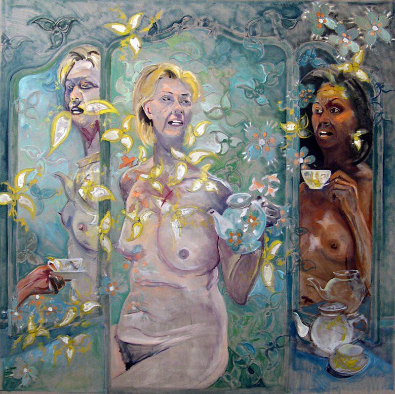 Tea Party (Self as Hillary & MIchelle)