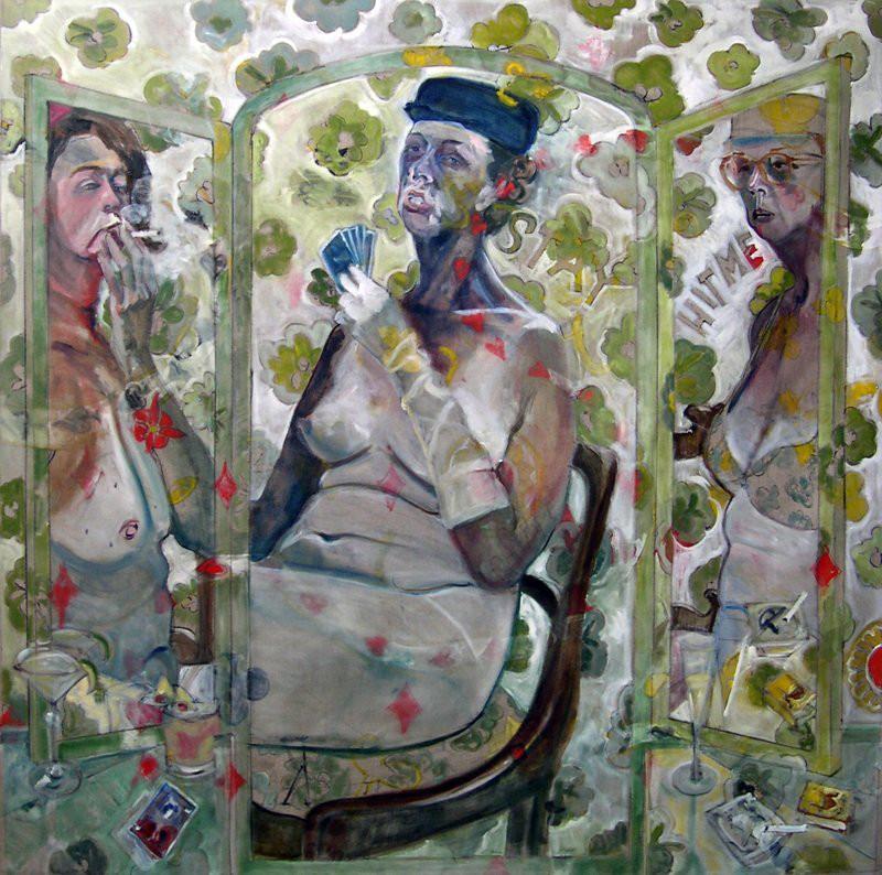 The Card Players (Self as Jackie, Mamie, & Eleanor)