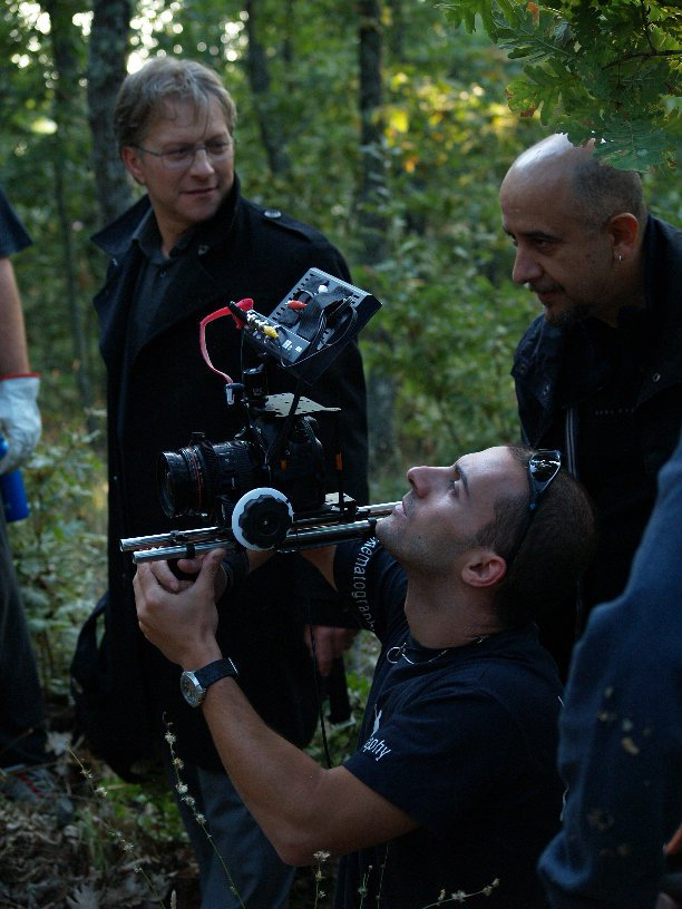 Peter filming 'Lurk'