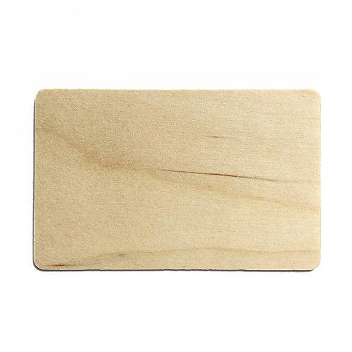 Holzkarte, Echtholzfurnier, 86 x 54 x 0,76 mm (10 Stück)