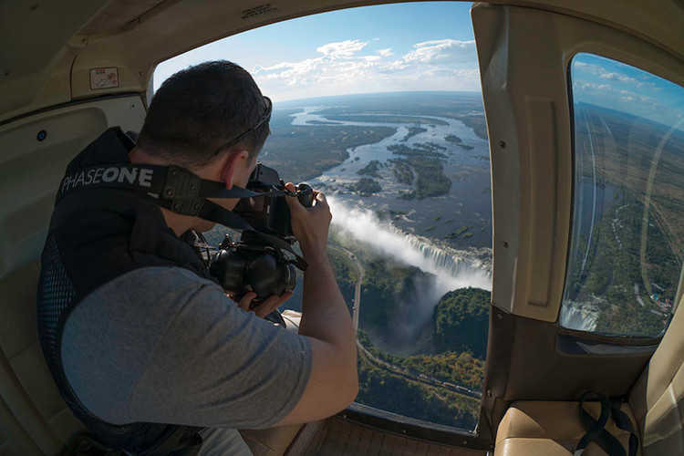 Photographing the largest waterfall in the world