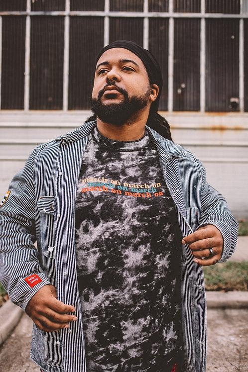 March On | Tie Dye Unisex Sweatshirt