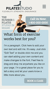 Wellness website templates – Pilates Classes