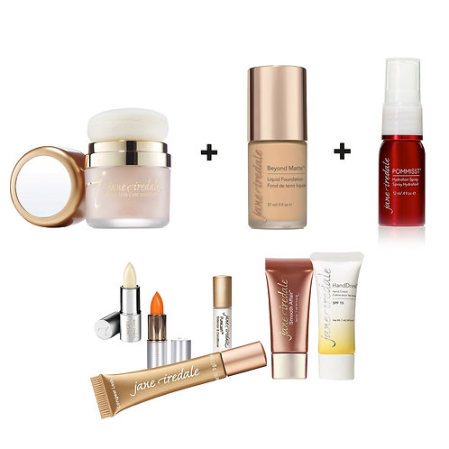 POWDER-ME +BEYOND MATTE LIQUID FOUNDATION + GRATIS POMMISST + 6 LUXE STALEN
