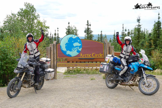 The Arctic Circle - Northernmost point of this adventure!