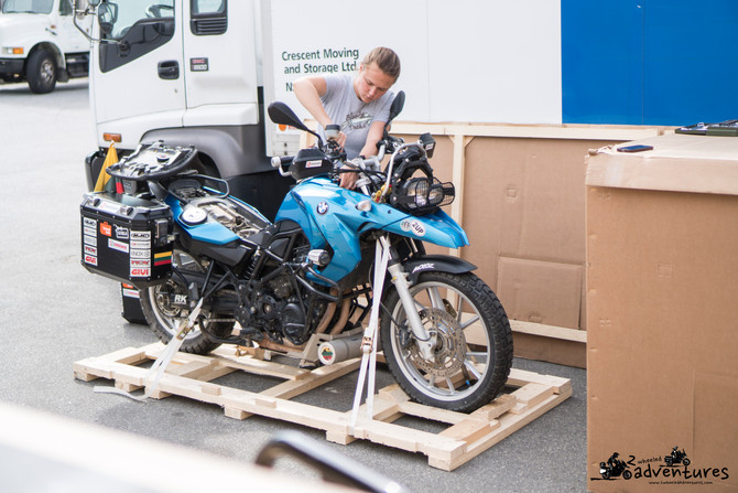 Step by step motorcycle shipment from Canada to Russia
