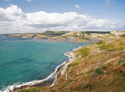 Looking west from St Aldhelm's Head