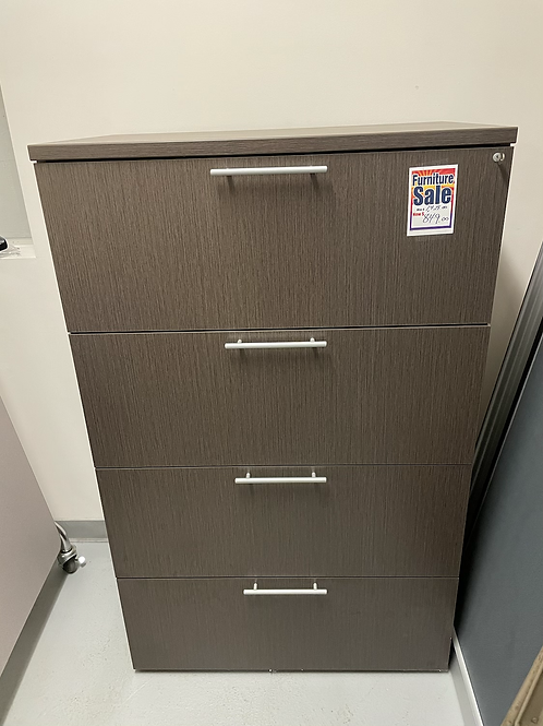 Clearance 4 Drawer Steel Grey Lateral File