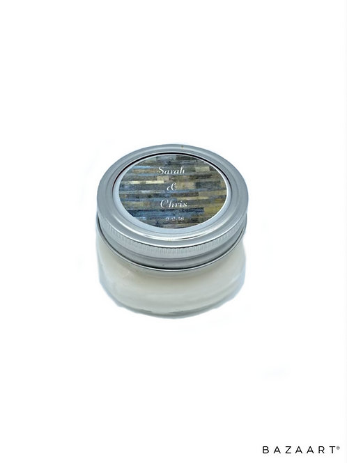 Apothecary Jar 4 oz Soy Candle Favor