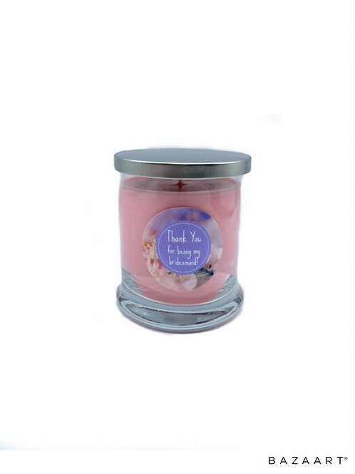 """""""Thank You Bridesmaid"""" Personalized Candle"""