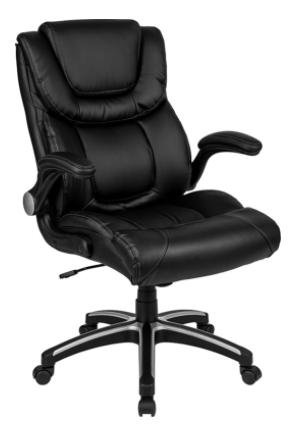 Black Highback Leather Executive