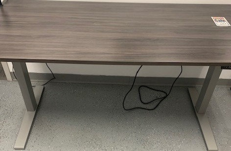 """66"""" x 30"""" Electric Height Adjustable Gray Table Desk"""