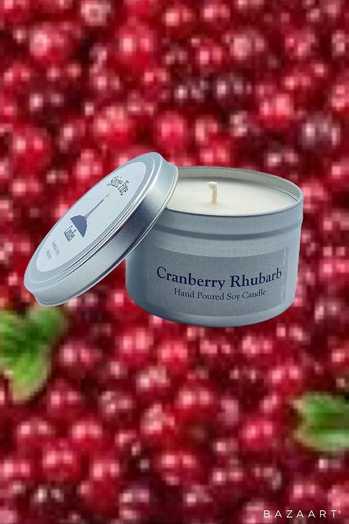 Cranberry Rhubarb 8 oz Soy Candle