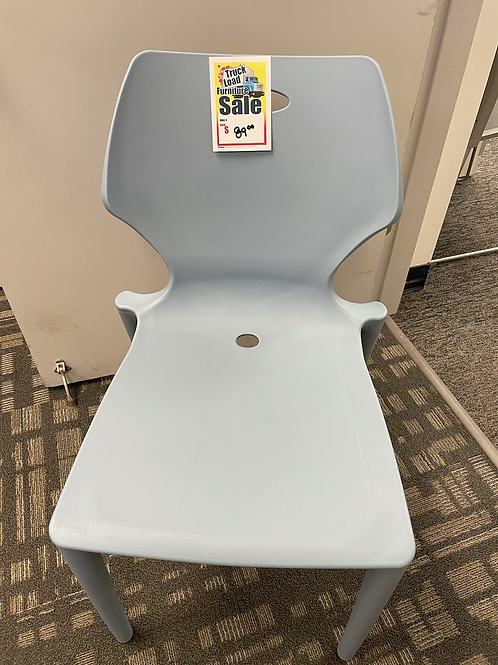 Blue Plastic Dining Chair