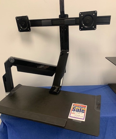 Dual Monitor Arm Sit to Stand Desktop