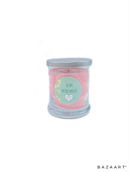 """Be My Bridesmaid"" Personalized Candle"