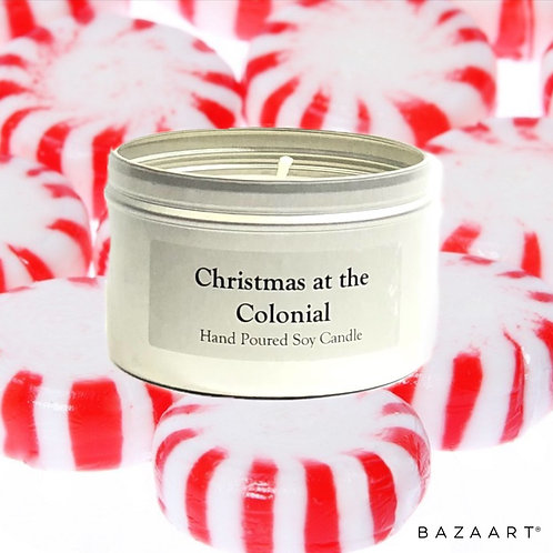 Christmas at the Colonial--Peppermint--8 oz Candle