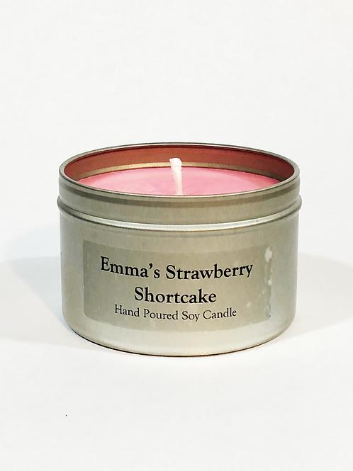 Emma's Strawberry Shortcake 8 oz Candle